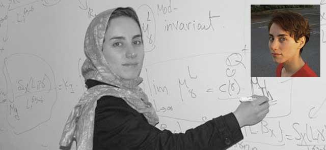 مریم میزاخانی،  ریاضی دان نابغه ایرانی که موجب افتخار همه ما، و خار چشمی است برای آخوندهای زن ستیز بیگانه پرست.