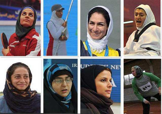 هشت ستاره درخشان بانوان ایرانی که توانستند از هفتخوان آخوند گذشته و در المپیک ۲۰۱۲ لندن شرکت کنند. آنان موجب افتخار ما ایرانیانند.