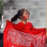 فریاد ظلم ستیزی دختران پرسپولیس بر هواست که به چه دلیل آخوند زنباره و زن ستیز از ورود آنان به ورزشگاه آزادی جلوگیری می کند.