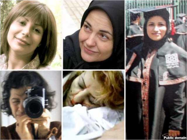 شماری از بانوان ایرانی که به دست رژیم جنایکتار به طرز فجیعی به قتل رسیدند.