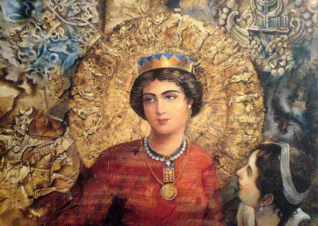 این سمبل و نمونه یک بانوی ایرانی در گذشته پیش از اسارت  آنان در بند اسلام  زن ستیز بوده است.