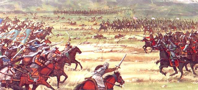 صحنه نبرد و جنگ میان دولت عثمانی و شاه اسماعیل در محل چالدران که به شکست شاه اسماعیل انجامید.