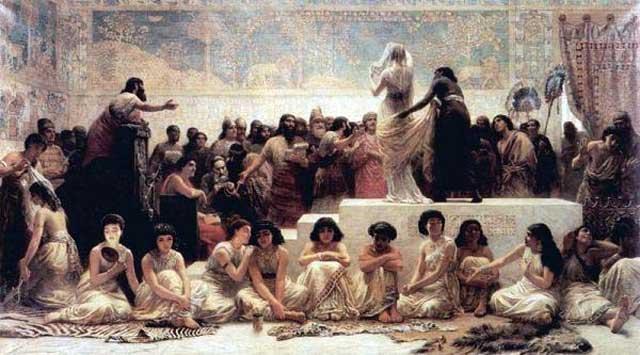 برده داری و فروش دختران و زنان به عنوان کنیز و ایجاد فساد و فحشاء از برنامه های محمدابن عبدالله بود و جانشینانش نیز قرن ها  به همان روش ادامه دادند.