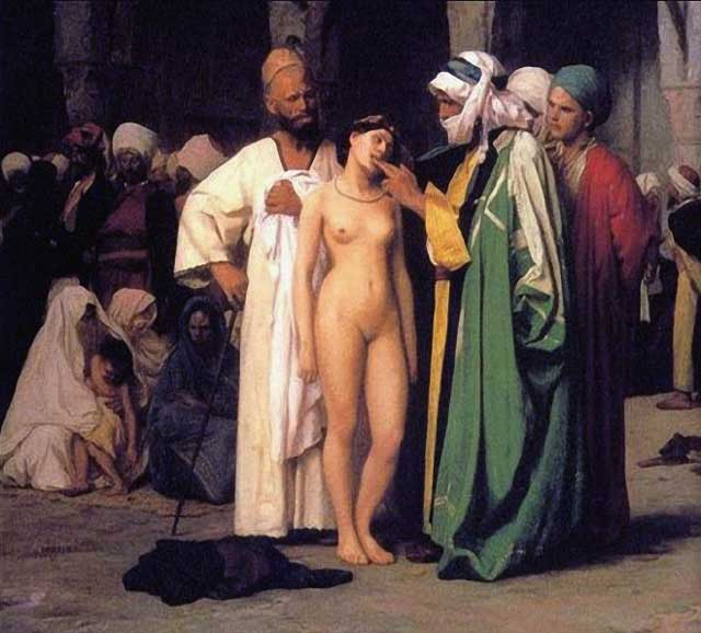 فروش زنان به عنوان کنیز در بازارهای جهانی از ابتکارات اسلام و مسلمانان بوده است.