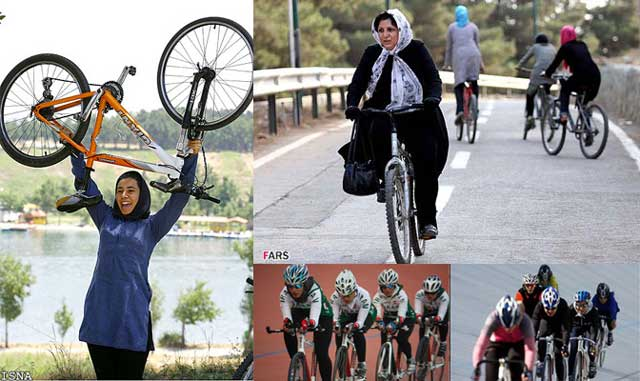 رژیم زن ستیز اسلامی، از دوچرخه سواری بانوان جلوگیری کرده است. این یک گام به سوی سلب آزادی از زنان، و  راندن آنان از درون اجتماع، به درون زندانی بنام خانه است.