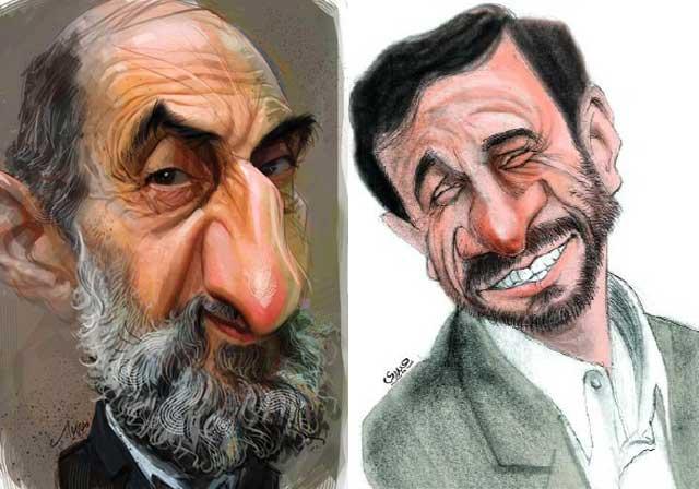 احمدی نژاد و شریعتمداری دو چهره نامطلوب، دهن گشاد، و ضد مردمی و وبال گردن مردم ایران