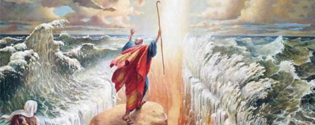 افسانه گذشتن موسی از رودخانه نیل. تاکنون کمترین آثاری که درست بودن این افسانه را تأیید کند، دیده نشده.