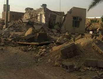 بازهم صحنه دیگری از ویرانی خانه ها، کشتار و سرگردانی مردم.