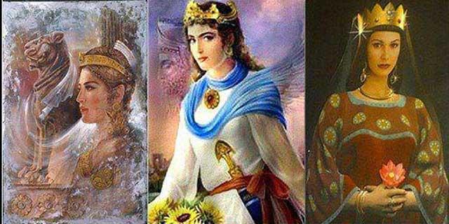 نمونه ای از زنان تاریخ ساز در ایران باستان پیش از یورش تازیان