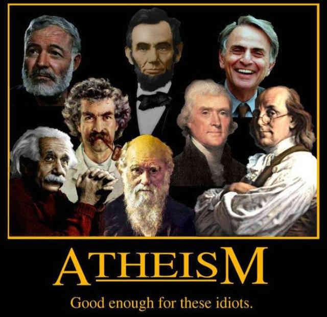 خداناباوری؛ گویا برای تمامی این احمق ها خوب بوده!  پ.ن: تمامی افراد در فرتور از مشاهیر نامی تاریخ جهان هستند.