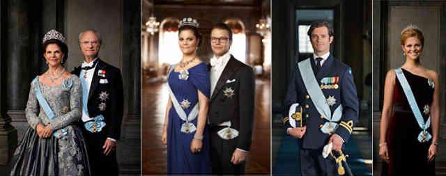 فرتور خاندان سلطنتی سوئد را نشان می دهد، حکومت سوئد یک پادشاهی مشروطه است.