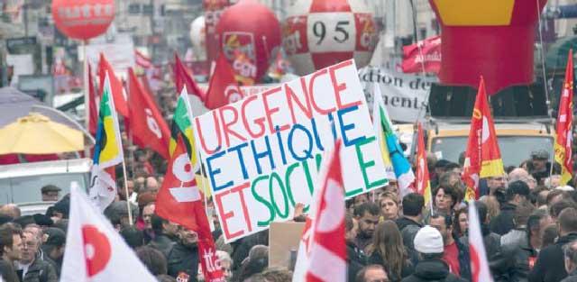 تظاهرات مردمی در پاریس و بروکسل در اعتراض به تصویب های اقتصادی کشورشان