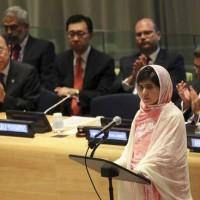 سخنرانی ملاله ۱۶ ساله در مجمع عمومی سازمان ملل در تاریخ ۱۲ جولای ۲۰۱۳ که جهانی را به حیرت و شگفتی در آورد و مورد ستایش گروه زیادی از مردم کشوهای گوناگون قرار گرفت.