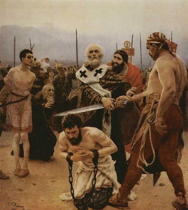 حمله تازیان به ایران و به اسیری گرفتن مردان و زنان ایرانی با وحشی ترین روشی است که در تاریخ می بینیم. نمونه بسیار بسیار خوب و مدرن آن در قرن ۲۱، رفتار خشونت بار و بیرحمانه رژیم اسلامی با مردم ایران است.