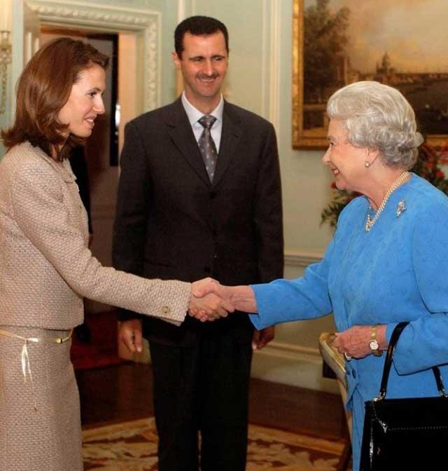bashir-assad-and-his-wife-meet-queen-elizabeth-2