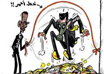 آیا بشار اسد و خامنه ای با همکاری همدیگر تا کنون از چند خط قرمز گذر کرده اند که پیامد آن ۱۳۰ هزار کشته، و ۷ میلیون آواره بوده است؟. گویا خط قرمز اوباما در بیرون و خارج بشار اسد قرار دارد!.