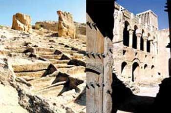 ویرانی های دیگری از شهر تاریخی سیراف که بدون توجه مانده و به باد فراموشی سپرده شده است. جوک و لطیفه شایسته ملایان و پاچه خوران آنهاست