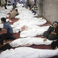 کشتار وحشتناک در مصر، نتیجه حمایت و تبلیغات آمریکا و کشورهای اروپایی به نفع اخوان المسلمین، و حمایت آمریکا از این گروه تروریستی، و سرزنش نمودن ارتش مصر که به خواست اکثریت ۳۳ میلیون مردم محمد مصری را بر کنار نمود.