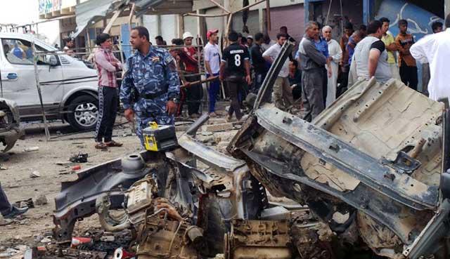 پیامد اشغال عراق، کشتار روزانه، نا امنی، و ویرانی کشور است.