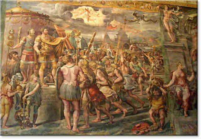 کنستانتین به دلایل سیاسی و برای کنترل بهتر توده ها، مسیحیت را اختراع کرده و آن را دین رسمی کشورش نامید.