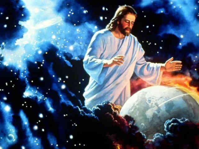 از دید یک مسیحی، نزدیک به شش هزار سال پیش، عیسی مسیح تمامی هستی را در شش روز خلق کرده و روز هفتم به استراحت پرداخته و اکنون نیز همانند فرتور مشغول محافظت از ایمان داران به مسیح می باشد! البته گویا او نقش چندانی در مرگ سالانه 9 میلیون کودک زیر پنج سال بر اثر گرسنگی و بیماری ندارد! منطق مذهبی اینگونه است...  _ سیروس پارسا _