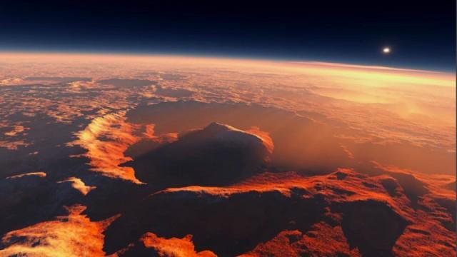 این تصویر از سطح کره مریخ بیانگر آنست که در گذشته در سطح مریخ آب وجود داشته و آثار گودی، بلندی و خردگی خاک و ایجاد حفره ها گویای این حقیقت است.