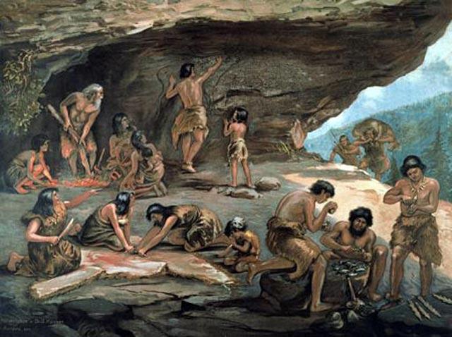 زندگی بشر از ترس جانوران درنده و برای فرار از سرما و گرما در دل غارها و شکاف کوهها سپری می شده است. و غارها نخستین پناهگاه بشر بوده است.