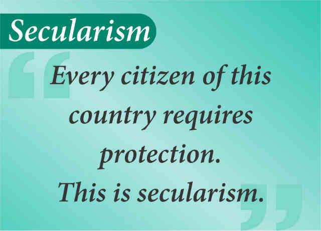 تمامی شهروندانِ یک کشور فارق از باورهای مذهبی شان به محافظت احتیاج دارند، این یعنی سکولاریسم!  _ سیروس پارسا