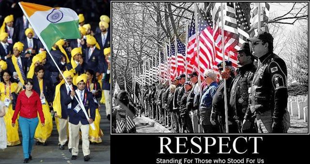 هر کشوری پرچم خود را مقدس می داند و بدان احترام می گذارد. در این جا بر افراشتن پرچم در آمریکا و هندوستان را می بینیم. ولی در این مصیبت دیده و آخوند زده، پرچم ملی ما یعنی شیر و خورشید به دور انداخته شد و پرچم اشغال تازیان به جای آن برا فراشته گشت. اینست درک و فهم و لیاقت ملت فراموشکار و خود باخته.