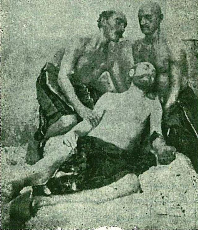 صحنه ای از کشتن امیر کبیر سردار بزرگ تاریخ ایران در حمام فین کاشان با وسوسه مادر ناصرالدین شاه و به دستور شاه نادان و ستمگر
