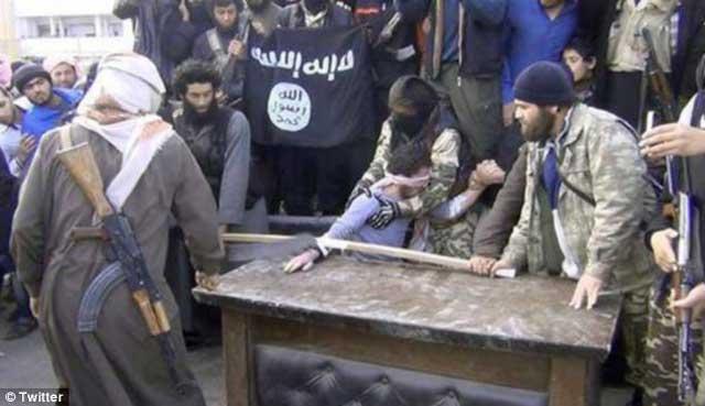 یک دیوانه مذهبی دست بیگناهی را نگه می دارد و جنایتکاری با ساطور دست او را قطع می کند. اینست نتجه کشمکش میان کشورهای غرب و شرق در سوریه.