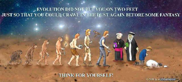 کمی فکر کن؛ تو بواسطه فرگشت روی دو پا نایستاده ای تا برای تخیلاتی واهی بر خاک خزیدن کنی.