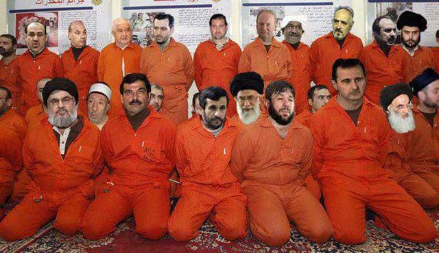 اینها شماری از جنایت کاران خاورمیانه هستند که عمومن زیر پرچم سرخ روسیه انجام وظیفه می کنند و باید به همت مردمان محروم کشورشان دستگیر و در دادگاههای مردمی محاکمه شوند.