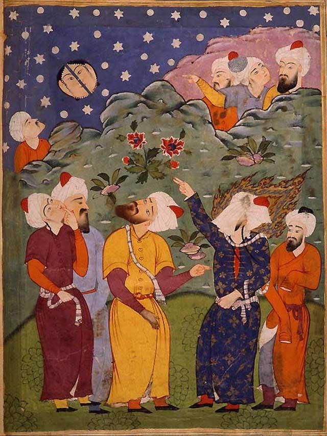(گیرم که توانستید با علم ! ثابت کنید که محمد ماه را به دو نیم کرده است! این کار وی چه تاثیری بر مردم آن ژمان داشت و اصلا گزارش این واقعه را جز خود محمد وهمراهانش ،اقوام دیگر هم داده اند؟)