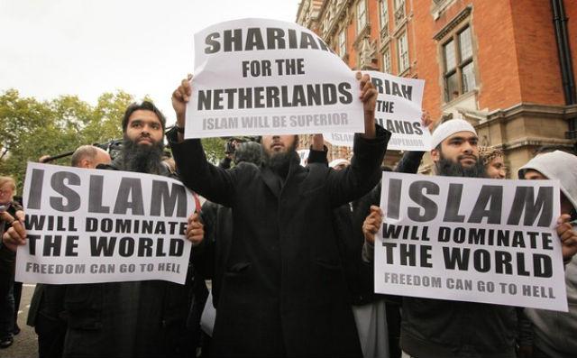 این موجودات ترسناک، خواهان برقراری شریعت اسلامی در هلند هستند! آیا نباید ایشان را به کشورهای شان دیپورت کرد؟