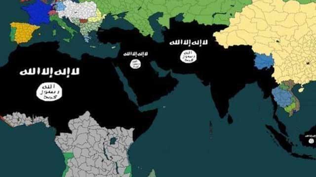 """کشورهایی که می بایدپس از فتح آنها در قلمرو داعش قرار گرفته و بنام """"دولت اسلامی عراق و شام """" همانند دوران معاویه به صورت خلافت اداره شود."""