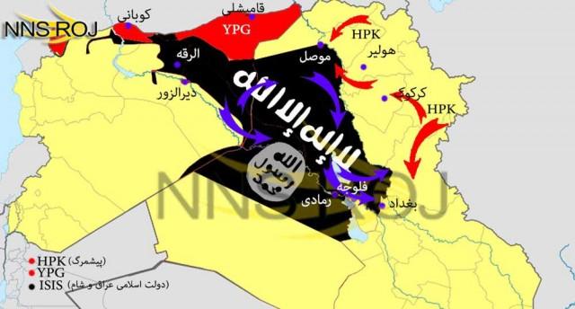 منطقه ای از عراق که تحت اشغال گروه داعش در آمده و در آنجا دست به کشتار وسیع زده اند.