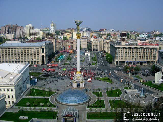 منظره ای از میدان شهر مونته ویدئو پایتخت اروگوئه که بسیار زیبا و دیدنی است.