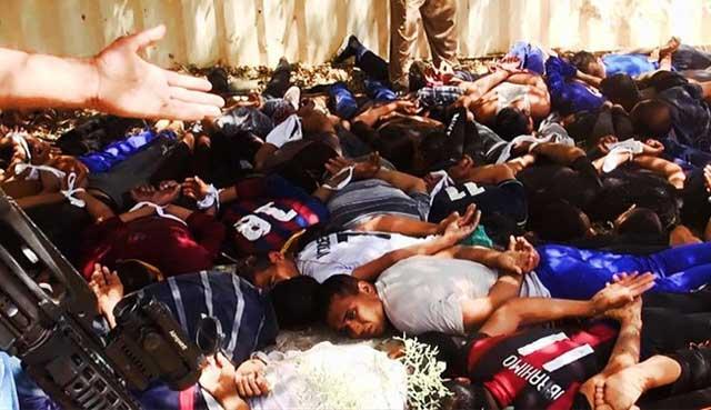 یکی از دهها جنایات داعش در عراق که از سوی الله مدینه مأموریت در قتل عام مردم دارد.