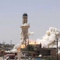 حسینینه القبه که به دست داعش ویران شد