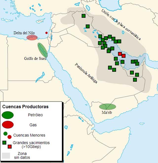 (نقشه مناطق نفت خیز خاور میانه در این عکس مشخص است. اما آیا این همه ثروت بیکران توانسته است مردم منطقه را به شادی و سعادت برساند؟ پس این که تصور کنیم با تجزیه می توانیم کشورهایی آباد و سعادتمند داشته باشیم آیا درست است؟ عراق و ایران نیمی از ذخایر معدنی منطقه را در خود جای داده اند و جالب است که فقر و افسردگی در این دو کشور موج می زند. کشورهای کوچک مانند کویت و امارات و قطر هم که کشورهای حقیقی نیستند و در واقع شرکتهای بزرگ استخراجند! تمدن ،فرهنگ و قدمت و هنر همان چیزی است که ایران را بدون نفت،بله، بدون نفت برای سده ها یکی از قدرتهای جهان کرده بود)