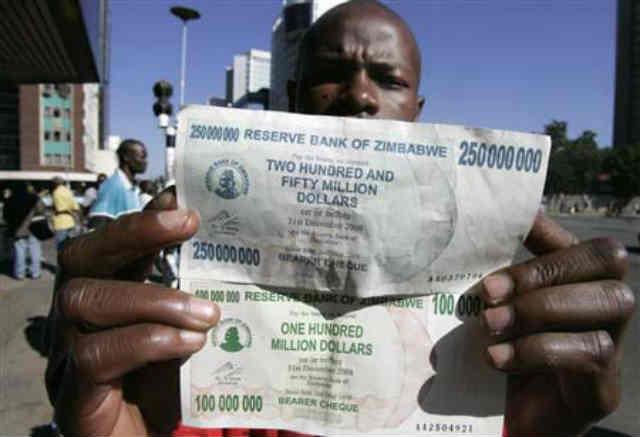 (رکورد دار سابق تورم کشور زیمباوه بود با اسکناس 250 میلیون دلاری که تازه 8 صفرش را برداشته بودند!!! رژیم آخوندی اگر نفت نداشت ما را به از این بدتر هم می برد... پس خدایتان را شکر کنید که اندکی از نفت با قطره چکان پای سفره هاست!)