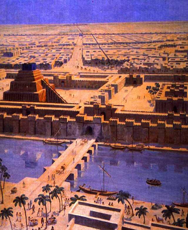 این ساختار شهر بابل در عراق کنونی است که مردم آن به پیشباز کوروش آمدند.