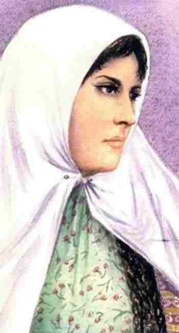 این فرتوری است که با مشخصات طاهره قرة العین کشیده شده است.طاهره قرة العین بانوی سلحشور و شجاعی بود که در اوج خرافات زمان خود که زنان همگی زیر روبنده و چادر سیاه بودند، پرده ها را بر درید و شجاعانه حجاب کثیف و استثماری اسلامی را به کنار زد و به زنان دیگر و آیندگان درس آزادی و شجاعت داد. یادش گرامی و راهش ادامه باذ.