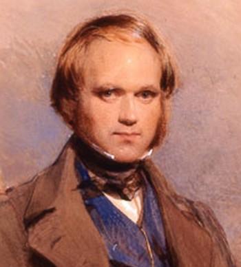 فرتور دانشمند نامی، چارلز داروین را نشان می دهد که یک تنه، با نظریه فرگشت که امروزه با وجود شواهد و مدارک بسیار، تبدیل یه یک حقیقت علمی انکار ناپذیر شده، خدایِ ادیان را شکست داد. (شکاک منطق)