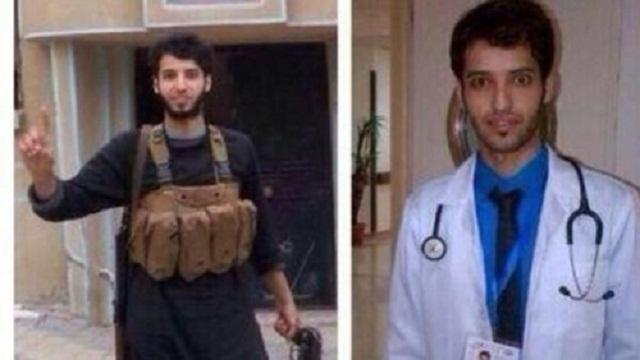توهم خدا با ماست! این توهمی است که همه ی دینداران آن را دارند و به گمان آنکه خدا با ایشان است، هر حماقتی را انجام می دهند! این فرتور یک پزشک عربستانی است که با پیوستن به داعش خود را به کشتن داد. براستی کار پزشک و سوگند پزشک تطابقی با داعش کشتارگر دارد؟ هرگز ندارد ولی اگر خدا بخواهد پزشک هم قاتل انتحاری می شود!