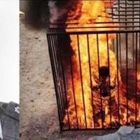 آنجا که وجدانها به خواب رفت و قلبهاسیاه گشت، جلاد داعش نیز قربانی خود را زنده زنده در آتش بسوزاند