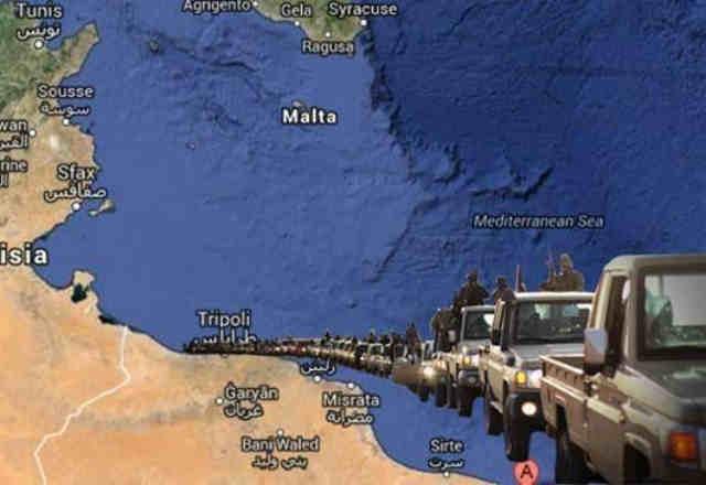 تسلط داعش بر جنوب دریای مدیترانه و اشغال بخش غربی لیبی