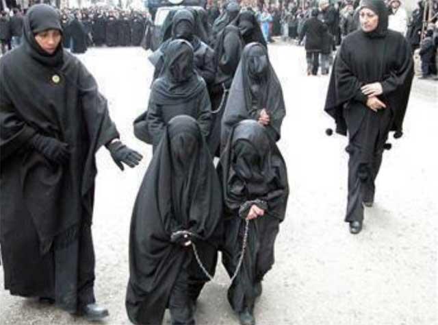 اینست مقام زن در اسلام. آیا رفتار مردان در کشورهای اسلام زده مانند افغانستان با زنان سوای اینست؟!.