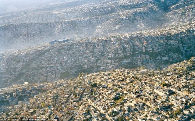 جمعیت فشرده ۲۰ میلیون و یا ۶۳،۷۰۰ نفر در هر کیلومتر مربع در مکزیکو سیتی پایتخت مکزیک که هریک زباله و مواد اضافی را بر طبیعت می افزاید و موجب آلودگی آن می شود.